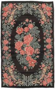 Chilim Rose Moldavia Covor 161X266 Orientale Lucrate De Mână Negru/Gri Închis (Lână, Republica Moldova)