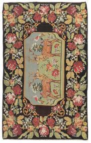 Chilim Rose Moldavia Covor 178X295 Orientale Lucrate De Mână Gri Închis/Bej Închis (Lână, Republica Moldova)