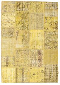 Patchwork Covor 159X232 Modern Lucrat Manual Bej Închis/Galben (Lână, Turcia)