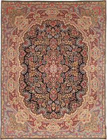Kerman Sherkat Farsh Covor 297X382 Orientale Lucrat Manual Maro Închis/Roșu-Închis Mare (Lână, Persia/Iran)
