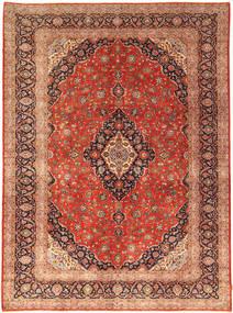 Kashan Covor 302X414 Orientale Lucrat Manual Ruginiu/Maro Închis Mare (Lână, Persia/Iran)