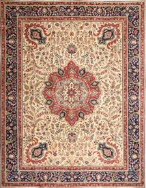 Tabriz Patina Covor 305X390 Orientale Lucrat Manual Maro Deschis/Bej Mare (Lână, Persia/Iran)