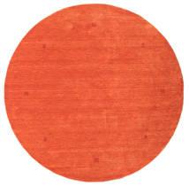 Loribaf Loom Covor Ø 202 Modern Lucrat Manual Rotund Portocaliu/Roşu (Lână, India)