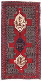 Senneh Patina Covor 145X299 Orientale Lucrat Manual Maro Închis/Roşu (Lână, Persia/Iran)
