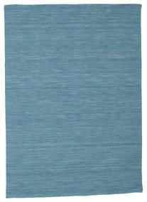 Chilim Loom - Albastru Covor 140X200 Modern Lucrate De Mână Albastru Turcoaz/Albastru (Lână, India)