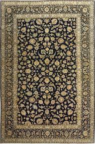 Kashan Patina Covor 255X385 Orientale Lucrat Manual Negru/Maro Deschis Mare (Lână, Persia/Iran)