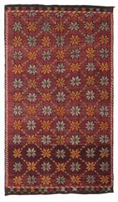 Chilim Semi-Antic Turcia Covor 180X311 Orientale Lucrate De Mână Roșu-Închis/Maro Închis (Lână, Turcia)