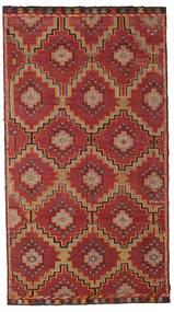 Chilim Semi-Antic Turcia Covor 175X318 Orientale Lucrate De Mână Roșu-Închis/Maro Închis (Lână, Turcia)