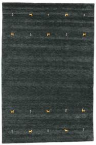 Gabbeh Loom Two Lines - Gri Închis/Verde Covor 190X290 Modern Negru (Lână, India)