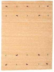 Gabbeh Loom Two Lines - Bej Covor 160X230 Modern Bej Închis/Maro Deschis/Galben (Lână, India)