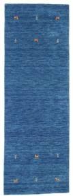 Gabbeh Loom Two Lines - Albastru Covor 80X250 Modern Albastru Închis/Albastru (Lână, India)