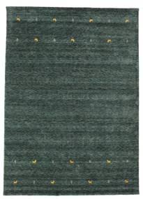 Gabbeh Loom Two Lines - Gri Închis/Verde Covor 240X340 Modern Verde Închis/Negru (Lână, India)
