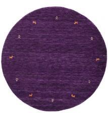 Gabbeh Loom Two Lines - Violet Deschis Covor Ø 150 Modern Rotund Mov Închis (Lână, India)