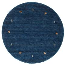 Gabbeh Loom Two Lines - Albastru Închis Covor Ø 150 Modern Rotund Albastru Închis (Lână, India)