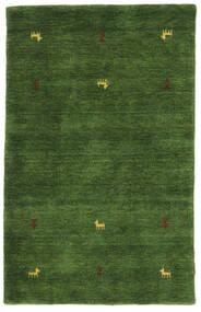 Gabbeh Loom Two Lines - Verde Covor 100X160 Modern Verde Închis (Lână, India)
