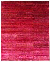 Sari Pură Mătase Covor 244X300 Modern Lucrat Manual Roşu/Roz (Mătase, India)