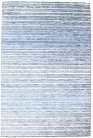 Bamboo Mătase Handloom Covor 202X304 Modern Lucrat Manual Albastru Deschis/Bej ( India)