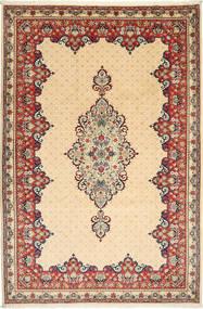 Yazd Covor 202X304 Orientale Lucrat Manual Bej/Bej Închis (Lână, Persia/Iran)