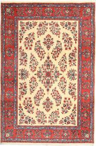 Yazd Covor 200X295 Orientale Lucrat Manual Roșu-Închis/Maro Deschis (Lână, Persia/Iran)