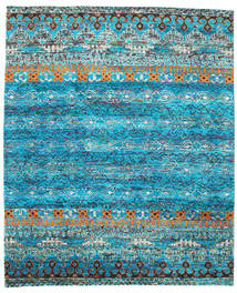 Quito - Turquoise Covor 240X290 Modern Lucrat Manual Albastru Turcoaz/Albastru (Mătase, India)