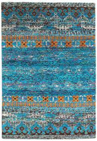 Quito - Turquoise Covor 160X230 Modern Lucrat Manual Albastru Turcoaz/Gri Închis (Mătase, India)