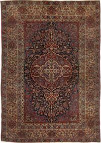 Isfahan Antic Covor 147X215 Orientale Lucrat Manual Roșu-Închis/Maro Închis (Lână, Persia/Iran)