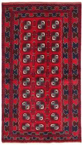 Beluch Covor 103X187 Orientale Lucrat Manual Roșu-Închis/Roşu/Maro Închis (Lână, Afganistan)