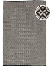 Diamond - Negru Covor 160X230 Modern Lucrate De Mână Gri Deschis/Gri Închis (Bumbac, India)