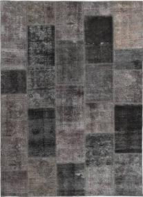Patchwork Covor 165X237 Modern Lucrat Manual Gri Închis/Maro (Lână, Persia/Iran)