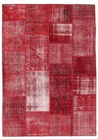 Patchwork Covor 163X229 Modern Lucrat Manual Roşu/Roșu-Închis (Lână, Turcia)