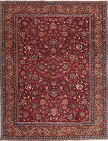 Mashhad Patina Covor 240X325 Orientale Lucrat Manual Roșu-Închis/Gri Închis (Lână, Persia/Iran)
