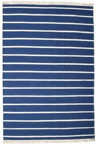 Dorri Stripe - Albastru Închis Covor 200X300 Modern Lucrate De Mână Albastru Închis/Albastru (Lână, India)