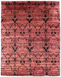 Damask Covor 241X305 Modern Lucrat Manual Roșu-Închis/Ruginiu ( India)