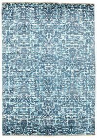 Damask Covor 170X244 Modern Lucrat Manual Albastru Deschis/Albastru ( India)