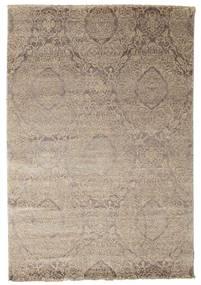 Damask Covor 165X242 Modern Lucrat Manual Gri Deschis ( India)