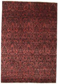 Damask Covor 172X244 Modern Lucrat Manual Roșu-Închis/Maro ( India)