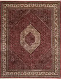 Bidjar Indo Covor 303X392 Orientale Lucrat Manual Roșu-Închis/Maro Mare (Lână, India)