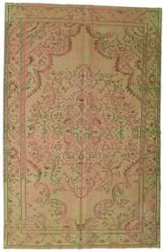 Colored Vintage Covor 183X284 Modern Lucrat Manual Maro Deschis/Lumina Verde (Lână, Turcia)