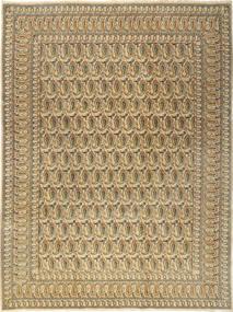 Kashan Covor 277X376 Orientale Lucrat Manual Maro Deschis/Bej Închis Mare (Lână, Persia/Iran)