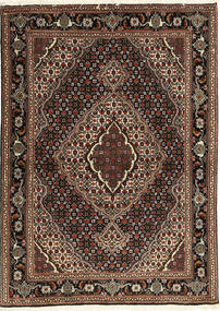 Tabriz 40 Raj Covor 107X149 Orientale Lucrat Manual Roșu-Închis/Maro Închis (Lână/Mătase, Persia/Iran)
