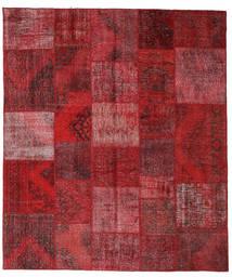 Patchwork Covor 250X290 Modern Lucrat Manual Roșu-Închis/Roşu Mare (Lână, Turcia)