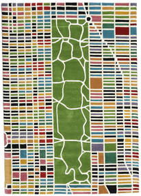 New-York/Manhattan Handtufted - Multi Covor 160X230 Modern Bej/Verde Închis (Lână, India)