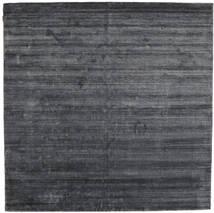 Bamboo Mătase Loom - Charcoal Covor 250X250 Modern Pătrat Violet Deschis/Gri Închis/Negru Mare ( India)