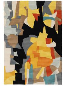 Rasmus Covor 160X230 Modern Negru/Maro Deschis (Lână, India)