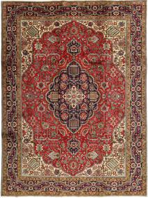 Tabriz Covor 245X327 Orientale Lucrat Manual Maro Închis/Roșu-Închis (Lână, Persia/Iran)