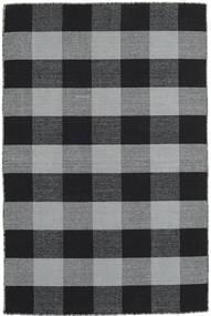 Check Kilim Covor 120X180 Modern Lucrate De Mână Negru/Gri Deschis (Lână, India)