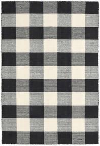 Check Kilim - Negru/White Covor 120X180 Modern Lucrate De Mână Gri Închis/Bej (Lână, India)