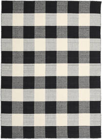Check Kilim - Negru/White Covor 240X340 Modern Lucrate De Mână Negru/Gri Deschis/Gri Închis (Lână, India)