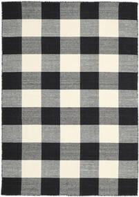 Check Kilim - Negru/White Covor 160X230 Modern Lucrate De Mână Negru/Gri Închis (Lână, India)