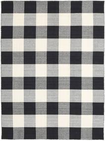 Check Kilim - Negru/White Covor 210X290 Modern Lucrate De Mână Gri Deschis/Negru/Bej (Lână, India)